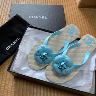シャネル(CHANEL)の新品☆CHANEL☆シャネル☆カメリアビーチサンダル(ビーチサンダル)