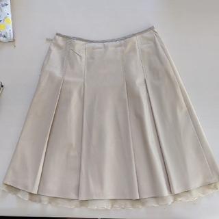 エムケーミッシェルクラン(MK MICHEL KLEIN)のMK ミッシェルクラン スカート Mサイズ ベージュ(ひざ丈スカート)