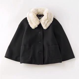 ジェーンマープル(JaneMarple)のラムメルトンファーカラーケープコート2019AW(毛皮/ファーコート)