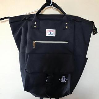 シマムラ(しまむら)のanello風リュック 黒色 新品 未使用 ラブラドール犬デザイン(リュック/バックパック)