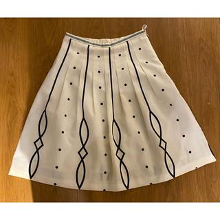 アーモンド(ALMOND)の【美品】almond oil / アーモンドオイル 柄スカート(ひざ丈スカート)