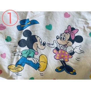 ディズニー(Disney)のミキミニ ハート柄 ビンテージシーツ ①(生地/糸)