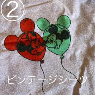 ディズニー(Disney)の② ミキミニ ビンテージシーツ 風船柄 レア リメイク等に(生地/糸)