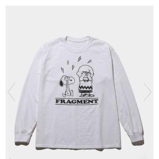 フラグメント(FRAGMENT)のfragment×PEANUTS ロンT 白 サイズL新品未使用 (Tシャツ/カットソー(七分/長袖))