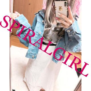 スパイラルガール(SPIRAL GIRL)の1957.SPIRALGIRL オーバーサイズ デニムジャケット ブルー(Gジャン/デニムジャケット)