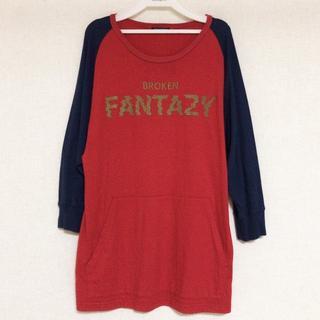 ミルクボーイ(MILKBOY)のMILKBOY BROKEN FANTAZY Tシャツ 赤×紺(Tシャツ/カットソー(七分/長袖))