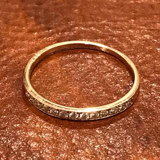 新品❤️18金 ダイヤモンド ハーフエタニティ リング 指輪 K18(リング(指輪))