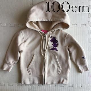 ディズニー(Disney)のミニーちゃん 長袖ジップアップパーカー 100cm(ジャケット/上着)