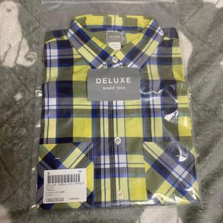 デラックス(DELUXE)のDELUXE デラックス チェックシャツ 半袖シャツ メンズ(シャツ)