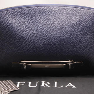 フルラ(Furla)のFURLA フルラ クラッチバッグ バイカラー ネイビー グレー メンズライン (セカンドバッグ/クラッチバッグ)