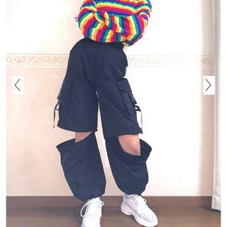 ウィゴー(WEGO)のwego レザーカーゴパンツ ストリートファッション(ワークパンツ/カーゴパンツ)