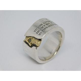 ドクターモンロー(Dr.MONROE)の16号 ドクターモンロー メッセージ スカル リング silver × K18(リング(指輪))