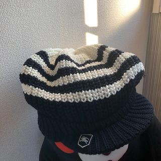 バーバリー(BURBERRY)のBurberry ニット帽 新品同様(ニット帽/ビーニー)