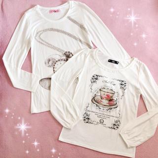 アンクルージュ(Ank Rouge)の☆アンクルージュAnk Rouge☆ティーカップ&時計柄☆ロンT2枚セット☆(Tシャツ(長袖/七分))