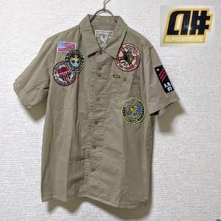 アルファヌメリック(alphanumeric)のALPHANUMERIC アルファヌメリック★ミリタリー 半袖シャツ 刺繍パッチ(シャツ)