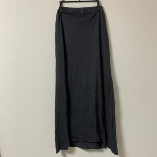 アウラアイラ(AULA AILA)のアウラアイラロングスカートチャコールグレー(ロングスカート)