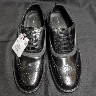 ZARA - 新品ZARAウィングチップ革靴シューズ
