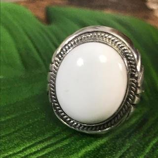 五郎様♡ホワイトバッファロー silver925 リング 15号(リング(指輪))