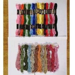 オリンパス(OLYMPUS)の刺繍糸 OLYMPUS★30本★set  オリムパス 25番 刺しゅう糸30(生地/糸)