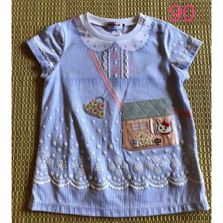 ミキハウス(mikihouse)の【新品】ミキハウス♡スワロフスキー♡うさこ豪華Tシャツ♡90(Tシャツ/カットソー)