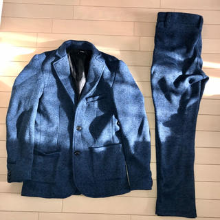 ザラ(ZARA)のrubik スーツ セットアップ 上下 ネイビー パンツ テーラードジャケット(セットアップ)