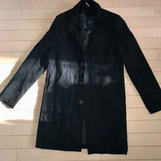 ユナイテッドアローズ(UNITED ARROWS)の新品未使用 ブラック メンズ ロングコート チェスターコート(チェスターコート)