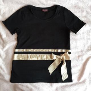 クレイサス(CLATHAS)のH.H4023様専用☆CLATHAS☆黒のリボンTシャツ(Tシャツ(半袖/袖なし))