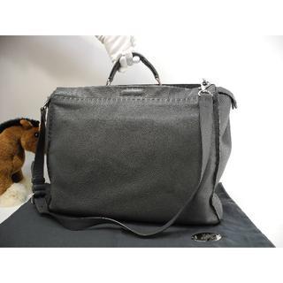 フェンディ(FENDI)のフェンディ ピーカブー大 セレリア灰 メンズハンドバッグ ビジネスバッグ 美品1(トートバッグ)