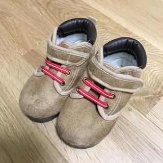 ニシマツヤ(西松屋)の未使用 西松屋 キッズ シューズ トレッキング ブーツ キャメル 14cm(ブーツ)