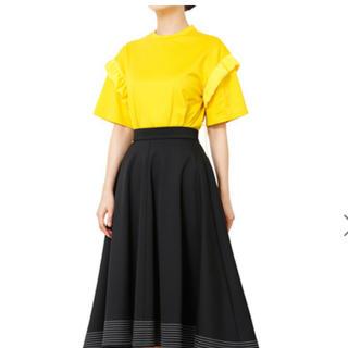 ルシェルブルー(LE CIEL BLEU)のルシェルブルーニットラッフルtee(Tシャツ(半袖/袖なし))