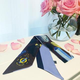 ディオール(Dior)のイニシャルシルクツイリー(バンダナ/スカーフ)