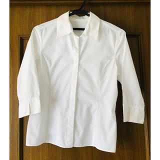 エル(ELLE)の白 シャツ 七分袖 ELLE(シャツ/ブラウス(長袖/七分))
