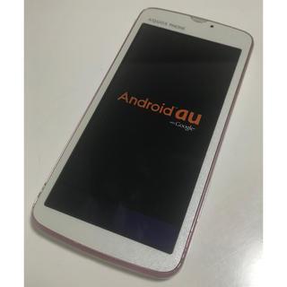 アクオス(AQUOS)のau AQUOS PHONE  SHI13 IS13SH ホワイト 初期化済(スマートフォン本体)
