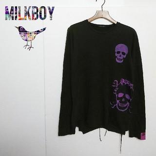 ミルクボーイ(MILKBOY)のMILK BOY ミルクボーイ スカルデザインカットソー(Tシャツ/カットソー(七分/長袖))