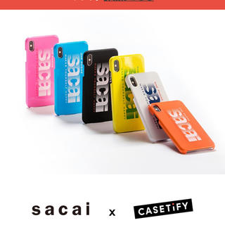 サカイ(sacai)のsacai × CASETiFY iPhone case X/Xs white (iPhoneケース)