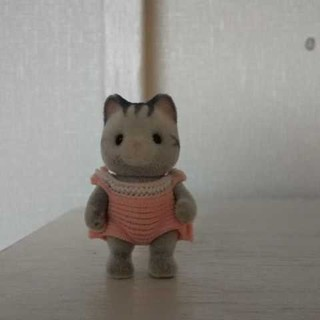 エポック(EPOCH)のシルバニアファミリー 赤ちゃん ベビー グレー ねこ ネコ 猫(ぬいぐるみ/人形)