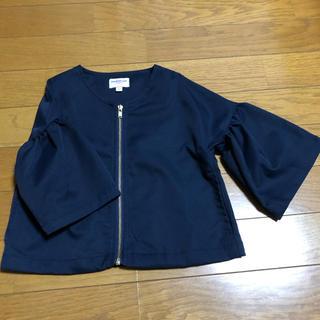 サマンサモスモス(SM2)のsamansa mos2 ノーカラー ジャケット 8分丈(ジャケット/上着)