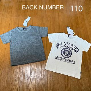 バックナンバー(BACK NUMBER)の週末値下げ Tシャツ 110 BACK NUMBER 半袖 2枚セット(Tシャツ/カットソー)
