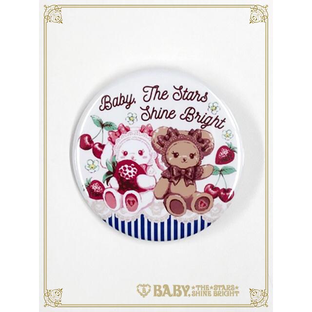 BABY,THE STARS SHINE BRIGHT(ベイビーザスターズシャインブライト)のうさくみゃチェリー缶バッジ エンタメ/ホビーのおもちゃ/ぬいぐるみ(キャラクターグッズ)の商品写真