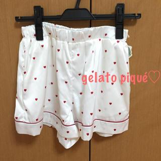 ジェラートピケ(gelato pique)の新品未使用♡ハートサテンショートパンツ(ルームウェア)