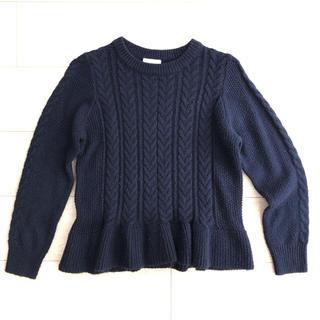 ジーユー(GU)のGU ニット セーター 紺 サイズ140(ニット)