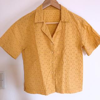 ジーユー(GU)のレディース GU 刺繍柄ブラウス(シャツ/ブラウス(半袖/袖なし))
