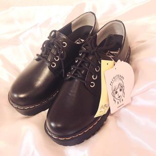 シマムラ(しまむら)のプチプラのあや プチアツゾコ4ホールレース シューズ(ローファー/革靴)