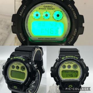 ジーショック(G-SHOCK)のCASIO G-SHOCK クレイジーカラーブラックグリーン DW-6900CS(腕時計(デジタル))