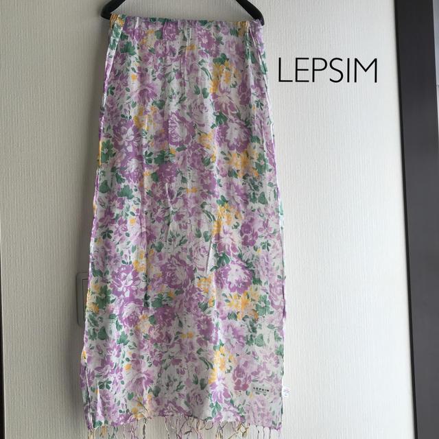 LEPSIM(レプシィム)のLEPSIM  UV花柄コットンストール レディースのファッション小物(ストール/パシュミナ)の商品写真
