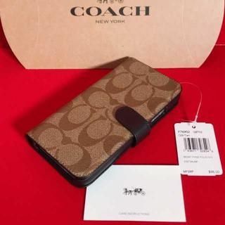 ウェンディズアンドフットザコーチャー(Wendy's & foot the coacher)のCOACH☆iPhone X/XS 手帳型ケース★F76902(iPhoneケース)