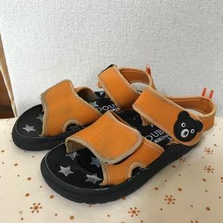 ダブルビー(DOUBLE.B)のミキハウス ダブルB サンダル ☆ 16cm 靴 夏 男の子 オレンジ(サンダル)