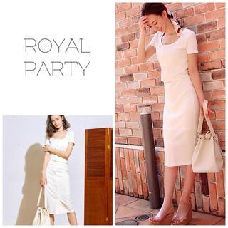 ロイヤルパーティー(ROYAL PARTY)のROYALPARTY♡ビックボタン リエンダ リゼクシー エイミー Rady(ひざ丈ワンピース)