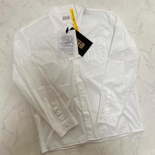 モンクレール(MONCLER)の正規保証 新品未使用 モンクレール フラグメント ロゴプリント ボタンシャツ(シャツ)
