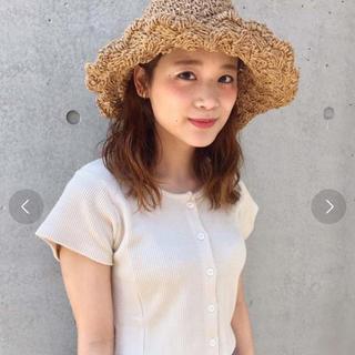 カスタネ(Kastane)の《未使用》kastane ペーパー BIG HAT(麦わら帽子/ストローハット)